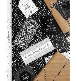 Zoedt Cadeaupapier zwart met witte dots