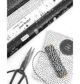 Zoedt Cadeaupapier wit met zwarte dots