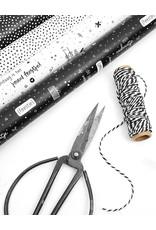 Zoedt Rol cadeaupapier verjaardag wit zwart  50x300cm