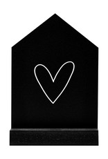 Zoedt Huisje zwart met wit hartje