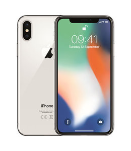 Apple iPhone X Wit / Zilver 256gb