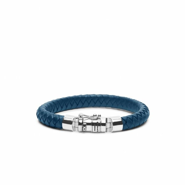 Ben Small Leather Blue leren armband (180BU)