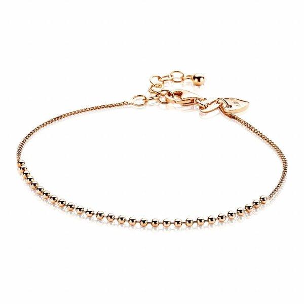 Rosegoud vergulde zilveren armband (ZIA1657R)