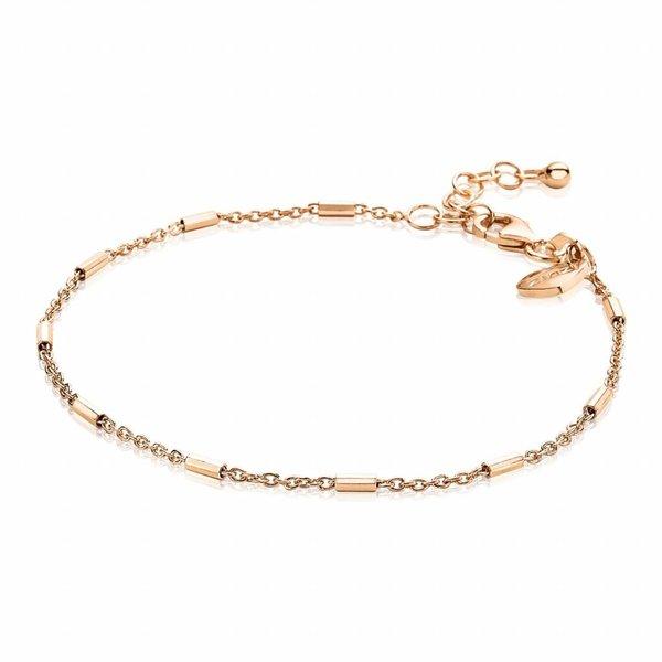 Rosegoud vergulde zilveren armband (ZIA1648R)