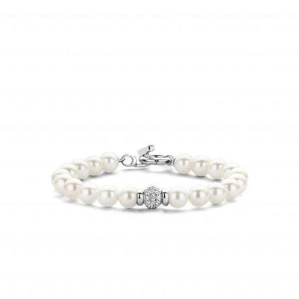 Witte zilveren armband (2808PW)