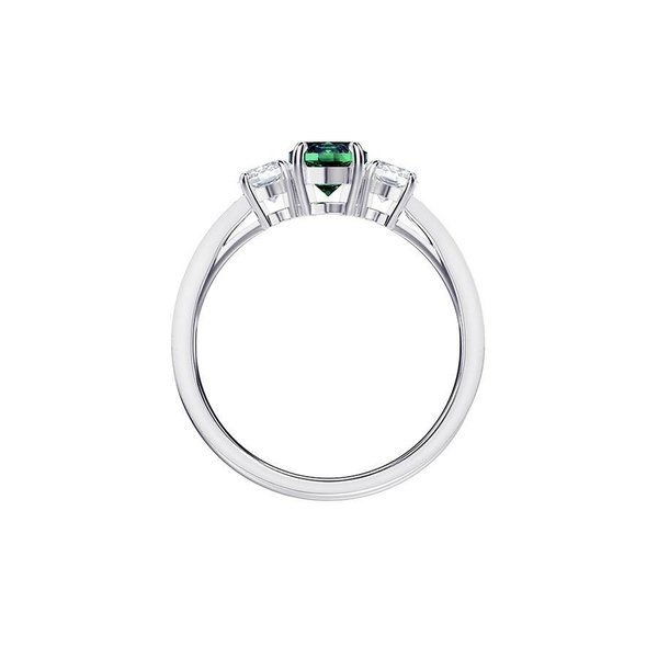 Attract Trilogy Round Ring - Smaragdgroen
