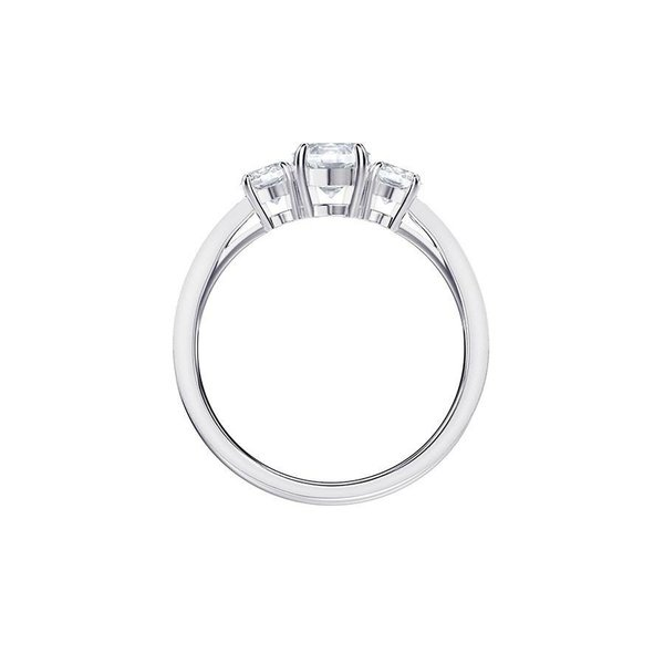 Attract Trilogy Round Ring - Crystal/Rhodium