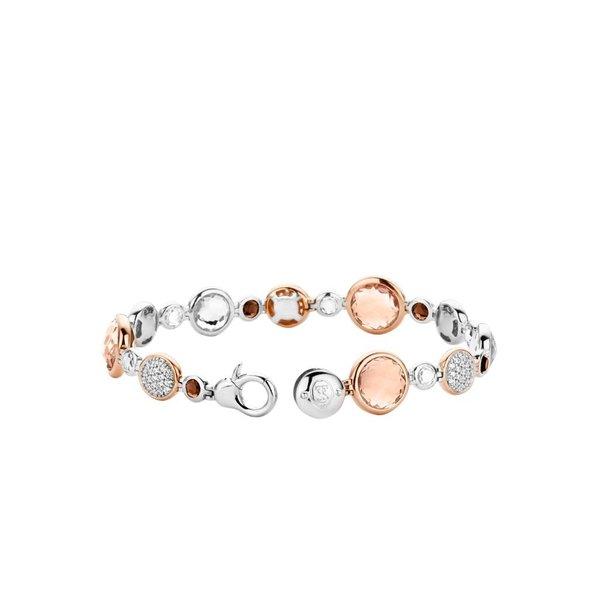 Bicolor zilveren armband (2902TP)