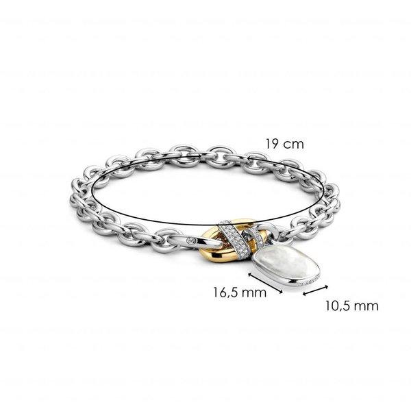 Bicolor zilveren armband (2898MW)