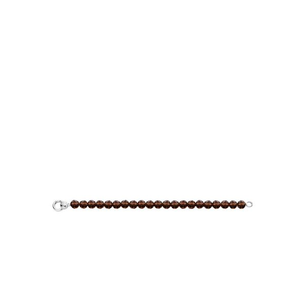 Bruine zilveren armband (2866TB)