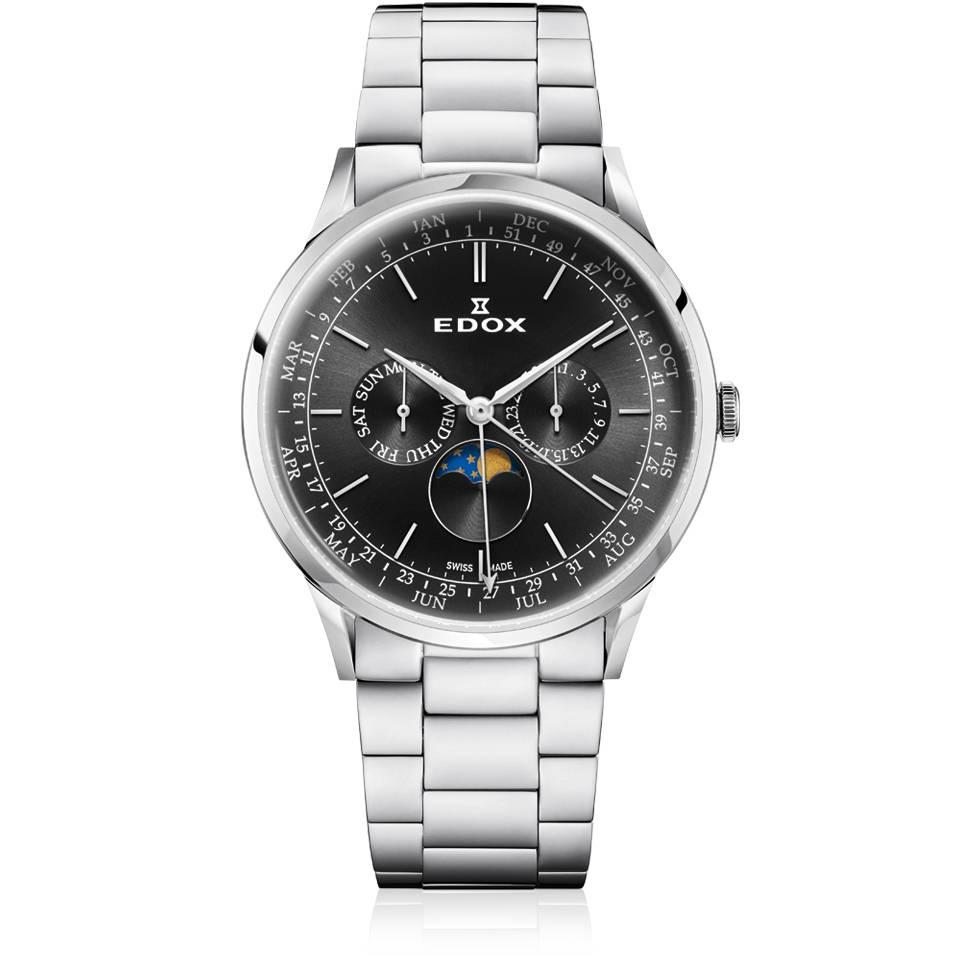 Nieuw Edox Zwitsers Les Vauberts herenhorloge 40101 3M NIN - Mynt KO-87