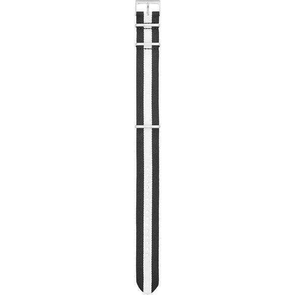Nylon Q Horlogeband met zilverkleurige gesp (22 mm) S221320