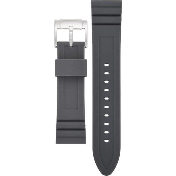 Siliconen Q Horlogeband met zilverkleurige gesp (22 mm) S221306
