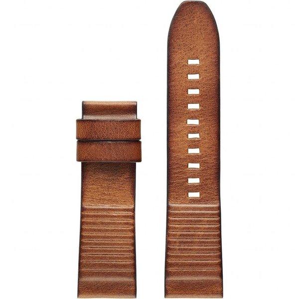 Donkerbruine Leren Diesel ON Full Guard Horlogeband (22 mm) DZT0003