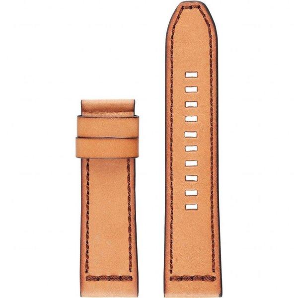 Lichtbruine Leren Diesel ON Full Guard Horlogeband (22 mm) DZT0002