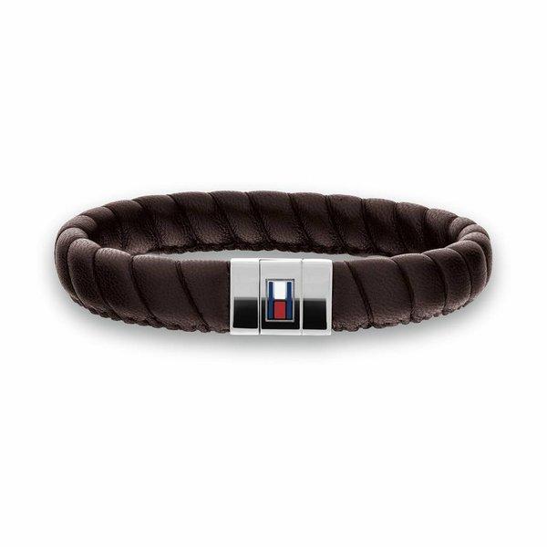 Bruine leren armband (Leather Braid TJ2701057)