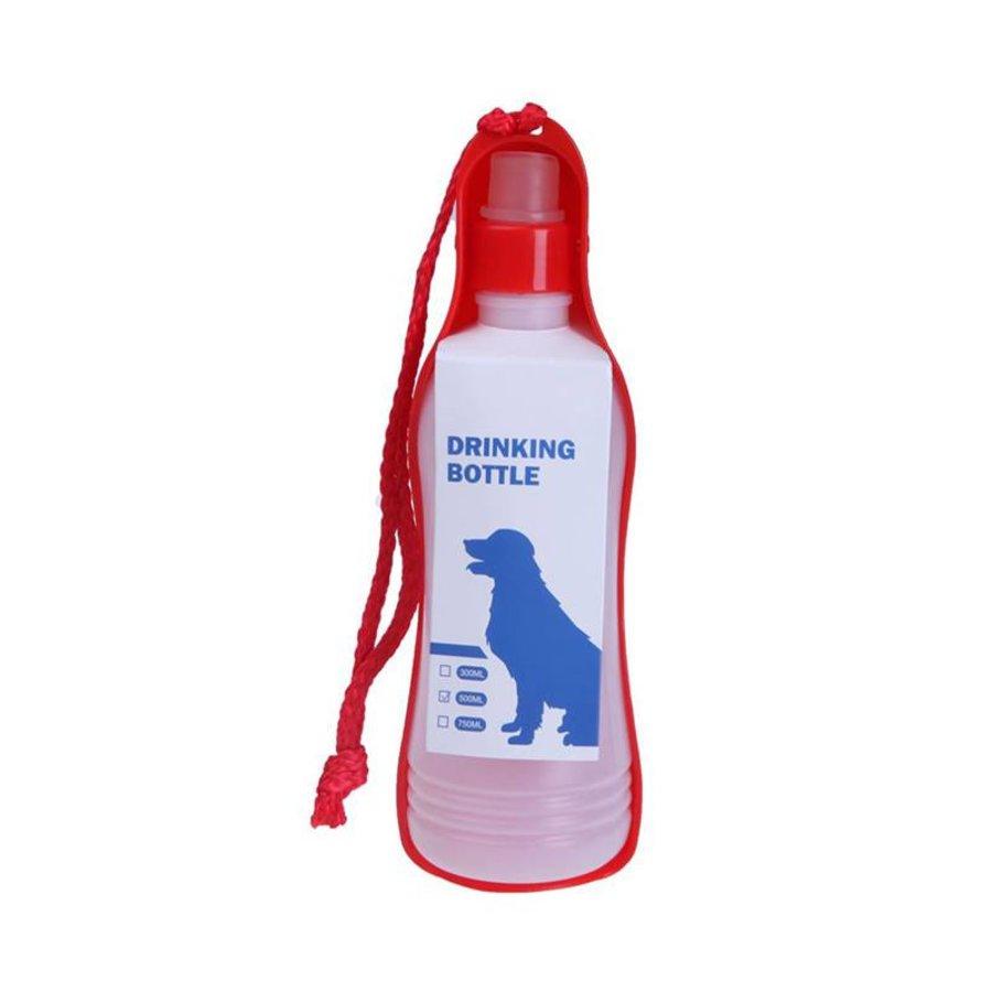 MPets  Boîte à boissons Grande pour le chien sur la route  750 ml rouge