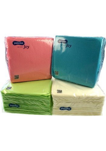 Neckermann Serviettes 100pcs 30x30 couleurs pastel 1 couche