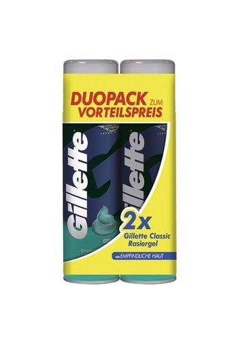 Gillette Scheergel 2x200ml gevoelige huid