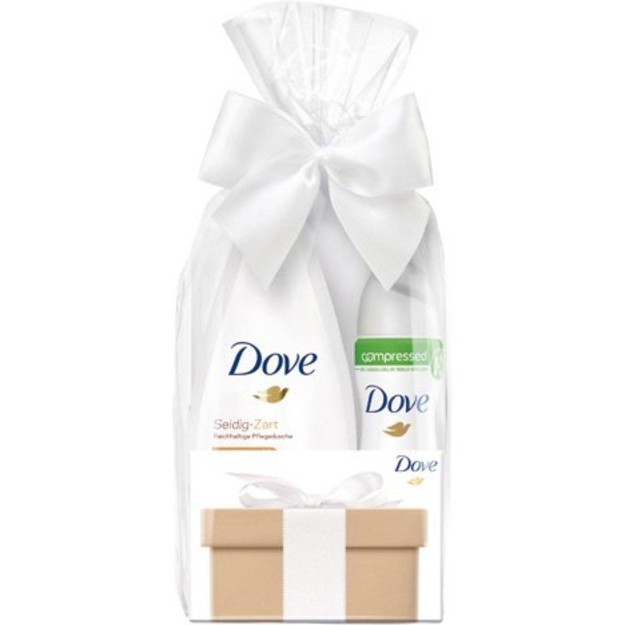 Dove GP Douche 250ml + Deospray 75ml Invisible Dry