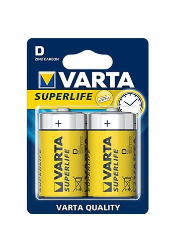Varta Varta Batterijen superlife mono 2stuks