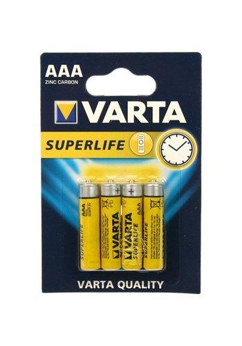 Varta Varta Batterijen superlife micro aaa 4stuks