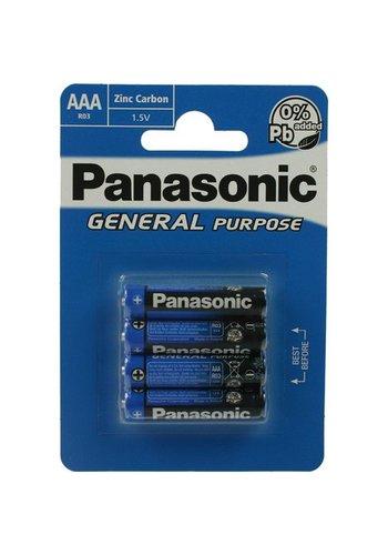 Panasonic PANASONIC Batterijen Micro AAA 4stuks Pack