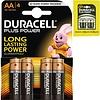 Duracell Batterien plus Alkaline Mignon AA - 4pieces