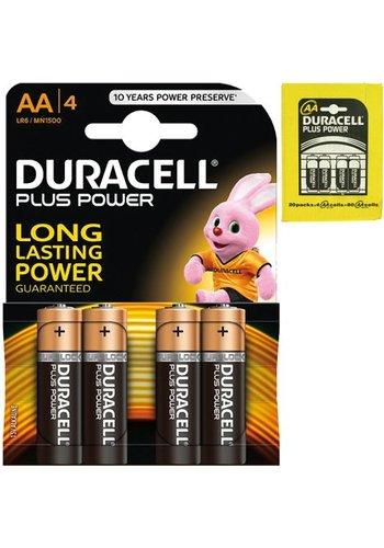 Duracell Batteries Plus Alcaline Mignon AA - 4pièces