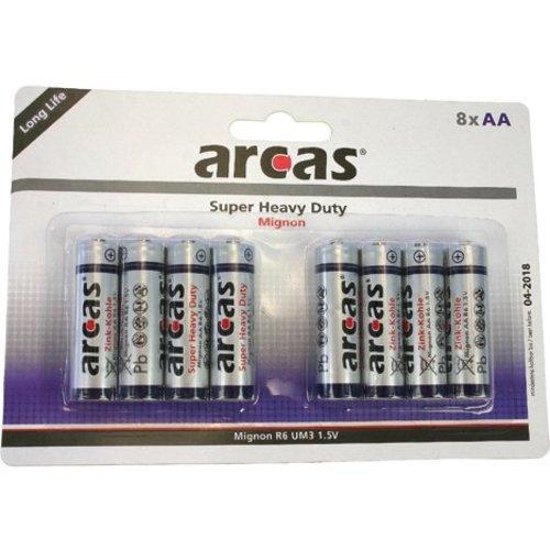 Arcas Arcas Batterijen R06 Mignon AA - 8stuks