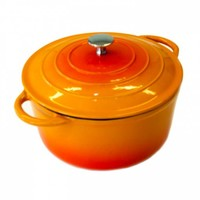 Neckermann Gietijzeren braadpan 24 cm oranje