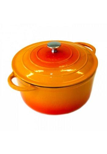 Neckermann Neckermann Poêle en fonte 24 cm orange