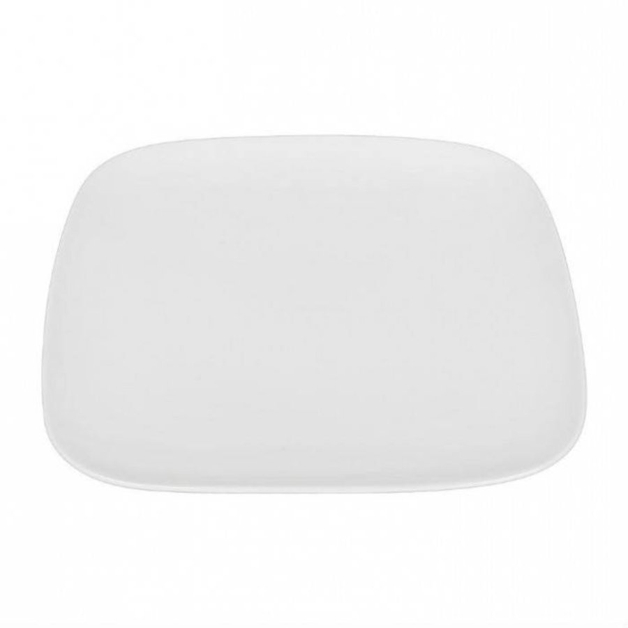 Dinerbord vierkant 26,6 cm wit