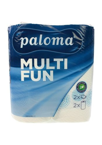 Paloma Paloma Keukenrol 2-laags 220x222mm 100% cellulose