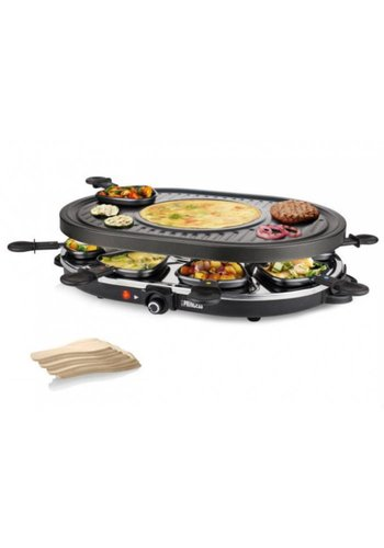Princess Princess Raclette 8 Oval Grill Party noir