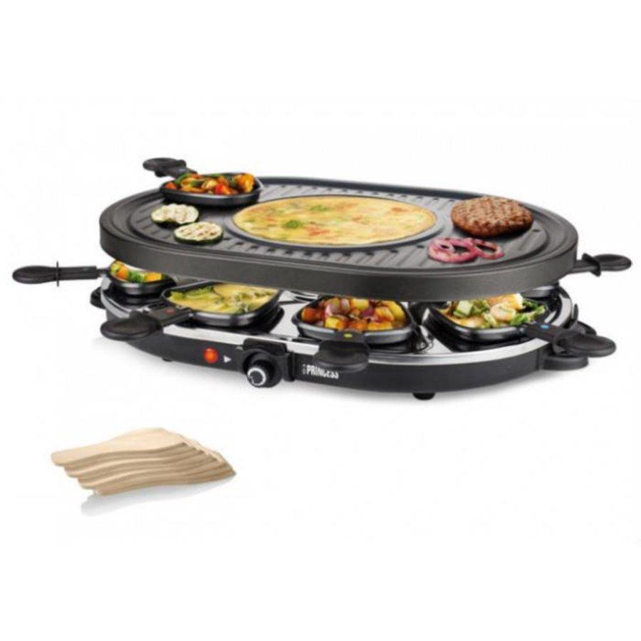 Princess Raclette 8 Oval Grill Party noir