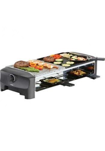 Princess Princess Raclette 8 Stone & Grill Party zwart
