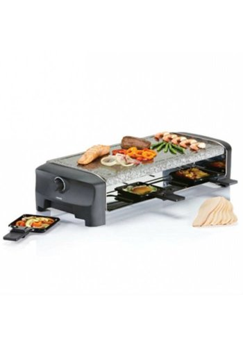 Princess Raclette 8 Stone Grill Party zwart