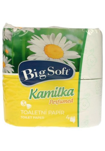 Big soft Toiletpapier 3-laags 4x160 stuks Kamilka