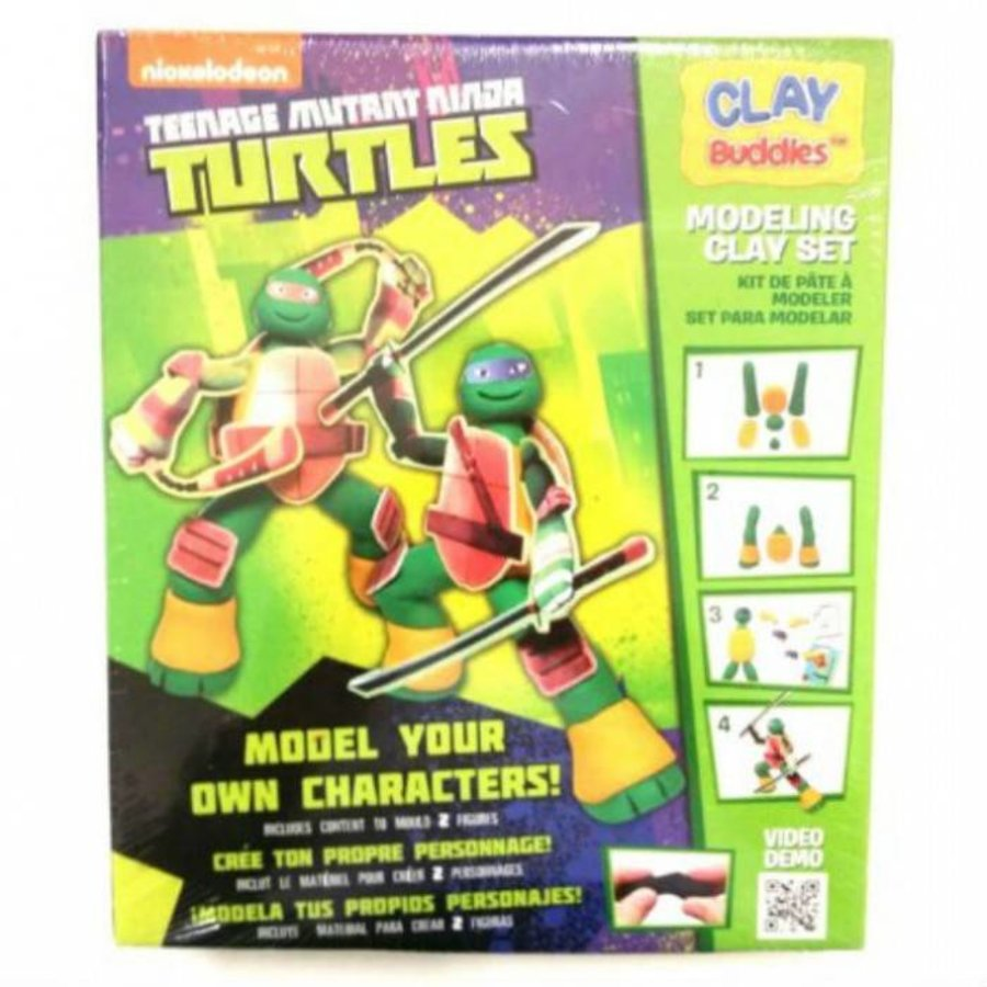 Neckermann mutant adolescent Ninja tortues plasticine set vert