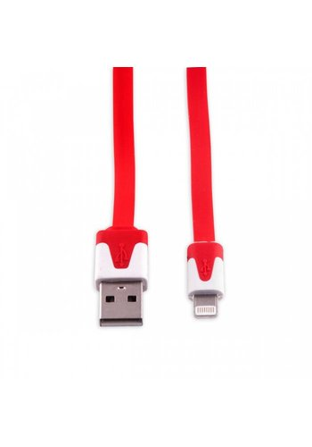 Neckermann Lightning naar USB kabel rood 1 meter