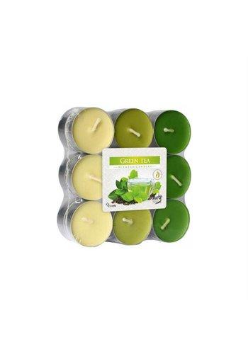 Bispol Bispol Bougies parfumées thé vert 18 pièces