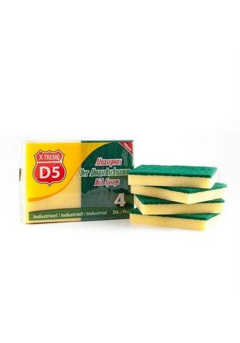 D5 X-treme Schuurspons XL 11x15x2.5cm 4 stuks