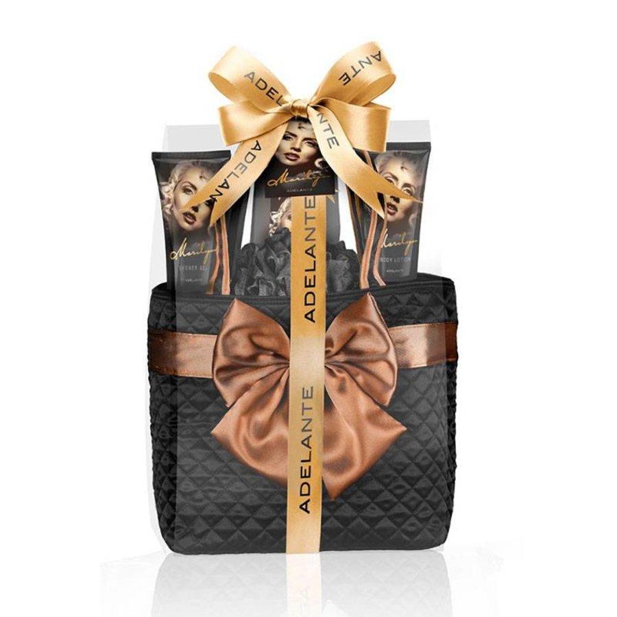 Adelante Geschenkset showergel, bodylotion, badkorrels en spons 200ml