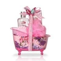 Adelante Geschenkset showergel, badkorrels, bruisbal en spons 120 ml