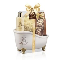 Adelante Geschenk-Set Duschgel, badkorrels, Seife und Schwamm 270 ml