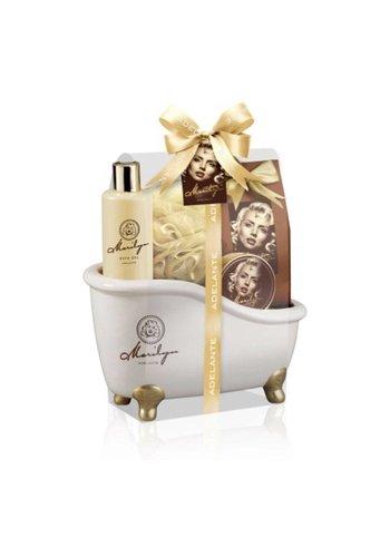Adelante Geschenkset showergel, badkorrels, zeep en spons 270 ml
