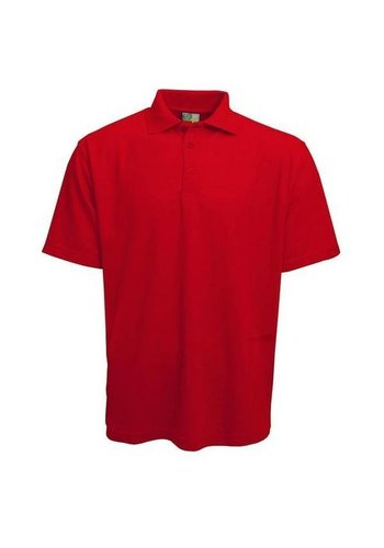 Lemon & Soda Polo homme manches courtes rouge