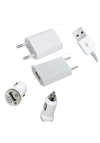 Neckermann Mini USB oplader plus autolader - geschikt voor iPhone