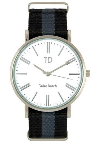 Tailor Dutch Tailor Dutch horloge zilver wit